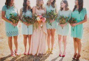 Bridesmaid Dresses in Turquoise