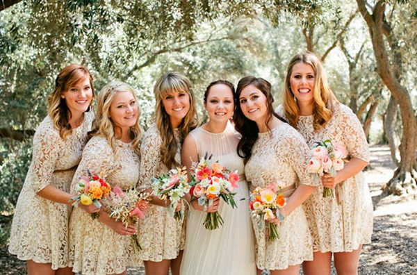 Bridesmaid Dresses Match Lace Wedding Dress : Lace bridesmaid dresses dressed up girl