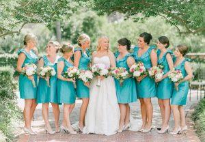 Bridesmaids Turquoise Dresses