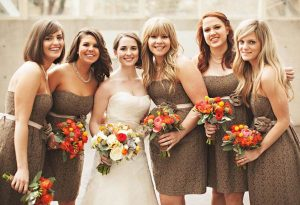 Brown Lace Bridesmaid Dresses