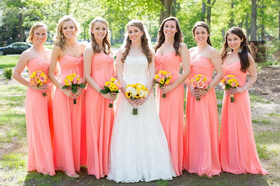Coral Bridesmaid Dresses  Dressed Up Girl