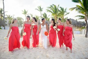 Coral Bridesmaid Dresses Long