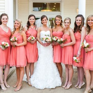 Coral Bridesmaid Dresses Short