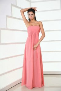 Coral Chiffon Bridesmaid Dresses