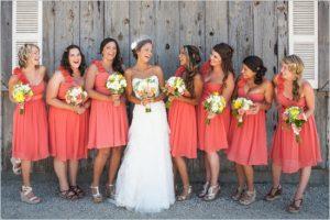 Coral Color Bridesmaid Dresses