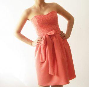 Coral Lace Bridesmaid Dresses