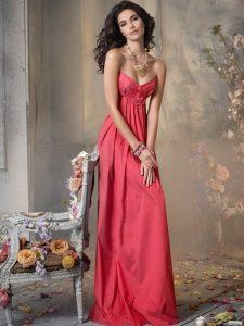 Coral Long Bridesmaid Dresses