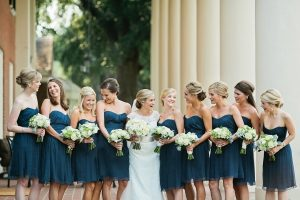 Dark Teal Bridesmaid Dresses