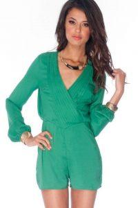 Emerald Green Romper