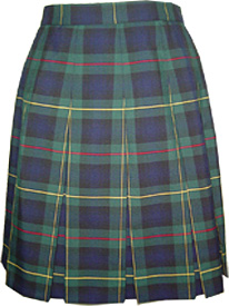 Green Plaid Skirts