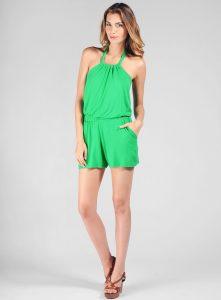 Green Romper Shorts