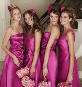 Hot Pink Bridesmaid Dress