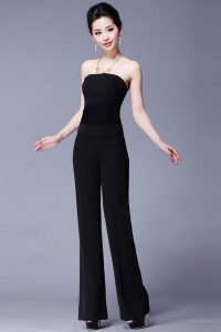 Images of Black Strapless Jumpsuit