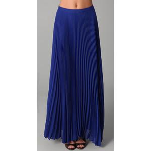 Images of Long Pleated Skirt