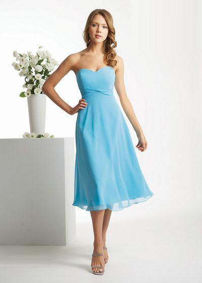 Blue Bridesmaid Dresses - Dressed Up Girl