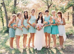 Light Teal Bridesmaid Dresses