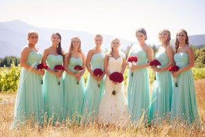 Light Turquoise Bridesmaid Dresses