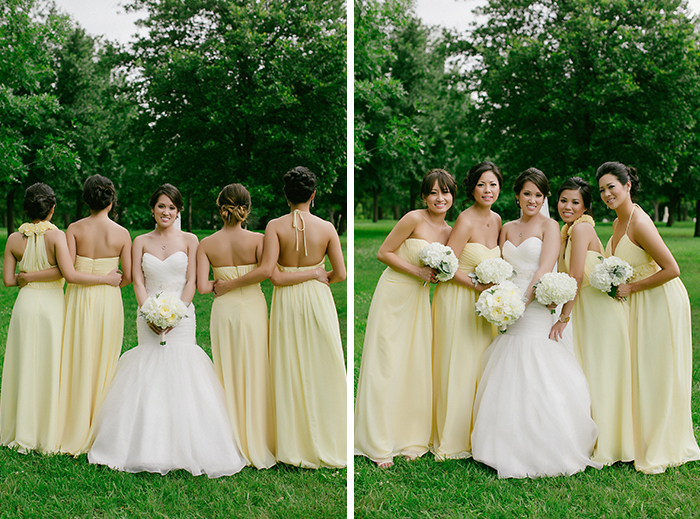Attractive Pastel Yellow Bridesmaid Dresses Vignette