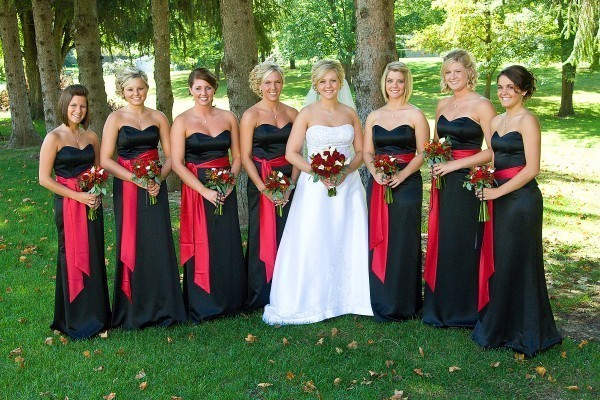 Black Bridesmaid Dresses Cheap