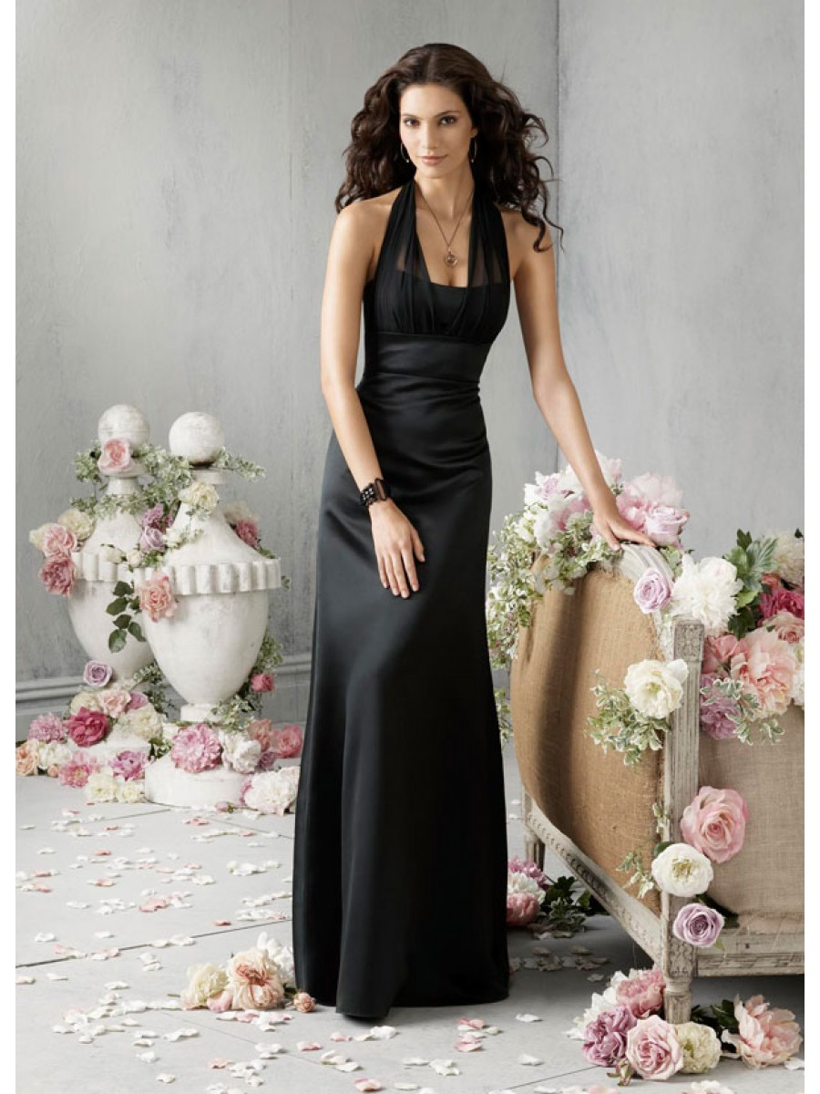 Black bridesmaid dresses dressed up girl long black chiffon bridesmaid dresses ombrellifo Choice Image