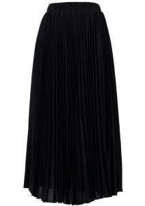 Long Black Pleated Skirt