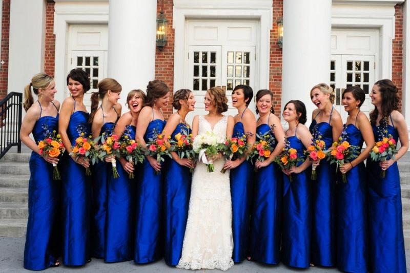 Blue Bridesmaid Dresses Dressedupgirl Com