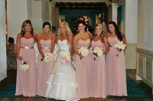 Long Pink Bridesmaid Dresses