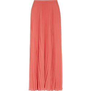 Long Pleated Chiffon Skirt