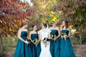 Long Teal Bridesmaid Dresses