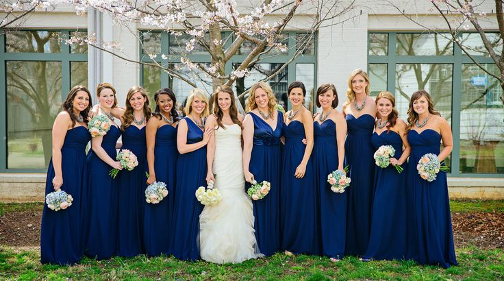 Navy Blue Bridesmaid Dress | Blue Bridesmaid Dresses Dressed Up Girl
