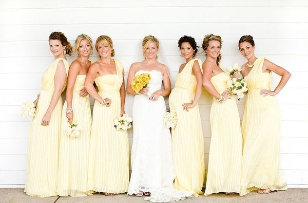 Yellow Bridesmaid Dresses | Dressed Up Girl