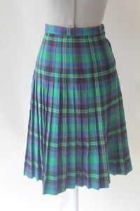 Pictures of Green Plaid Skirt