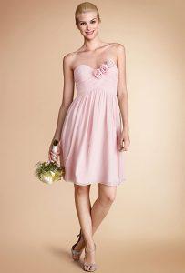 Pink Chiffon Bridesmaid Dress