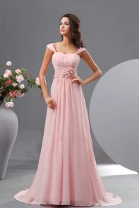 Pink Chiffon Bridesmaid Dresses