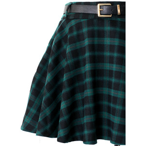 Plaid Green Skirt