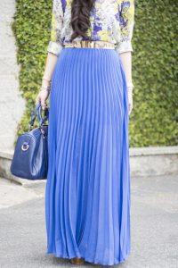 Pleated Long Maxi Skirt