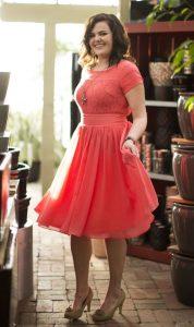 Plus Size Coral Bridesmaid Dresses