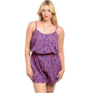 Plus Size Short Romper