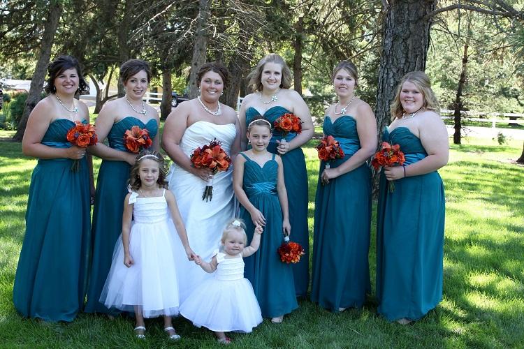 Teal Bridesmaid Dresses | DressedUpGirl.com
