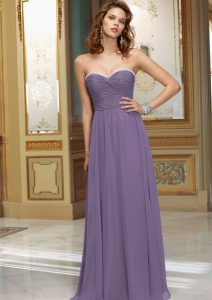 Purple Chiffon Bridesmaid Dresses