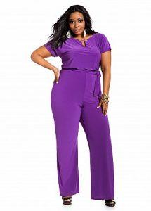 Purple Jumpsuit Plus Size