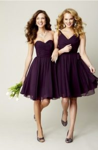 Purple Lace Bridesmaid Dress