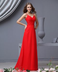 Red Long Bridesmaid Dresses