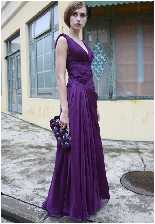 Purple Bridesmaid Dresses Dressed Up Girl