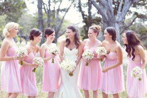 Short Pink Bridesmaid Dresses