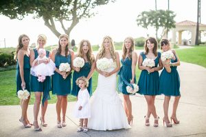 Short Teal Bridesmaid Dresses
