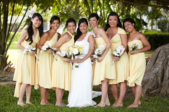 Beach Wedding Bridesmaid Dresses Yellow