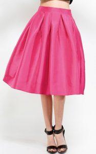 Taffeta Midi Skirt