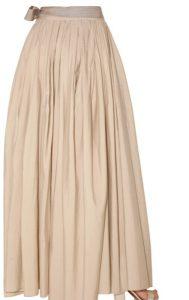 Taffeta Skirt Long