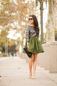 Taffeta Skirt Outfit
